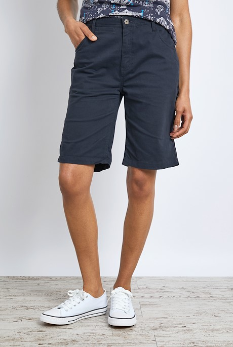 Vittoria Organic Cotton Bermuda Shorts Navy