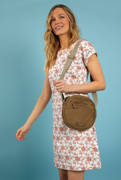 Stanton Canvas Cross Body Bag Toast