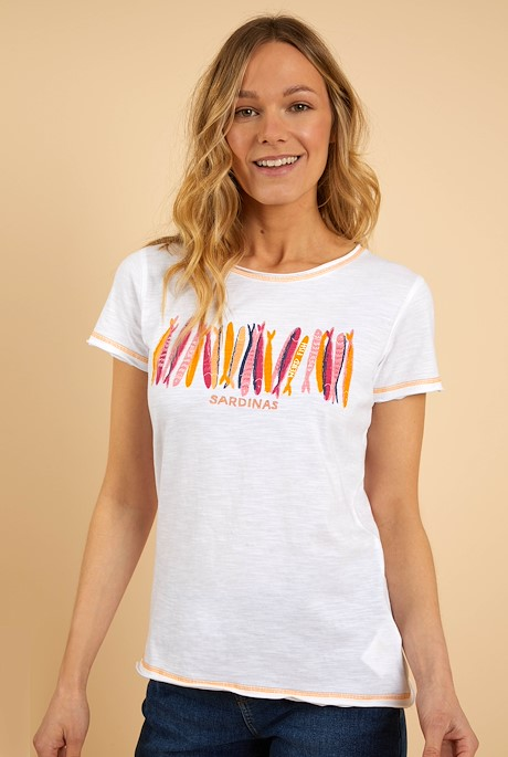 Fornelli Organic Cotton Graphic T-Shirt White