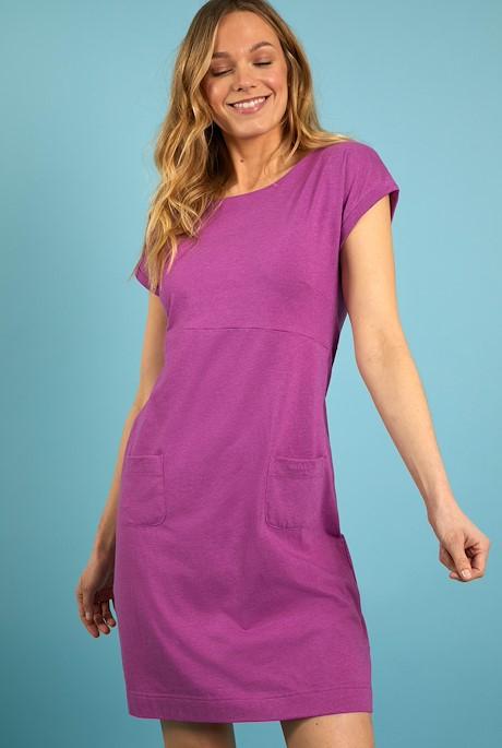 Viola Jersey Dress Mulberry