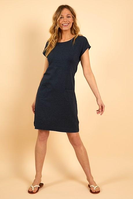 Viola Jersey Dress Navy