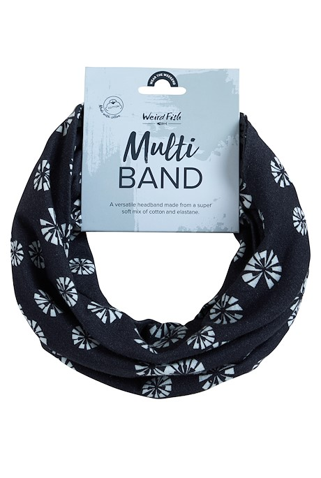 Marie Printed Jersey Multiway Band Navy