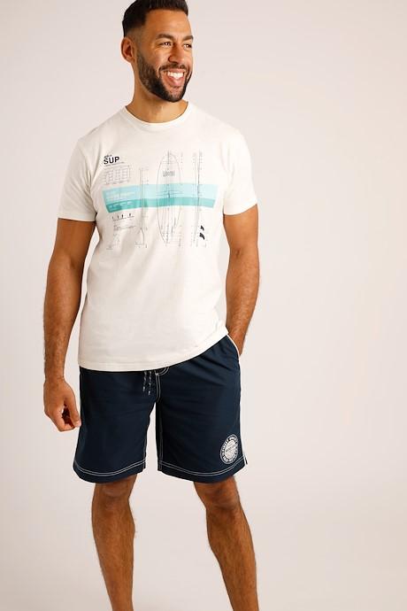 Cork Branded Board Shorts Navy