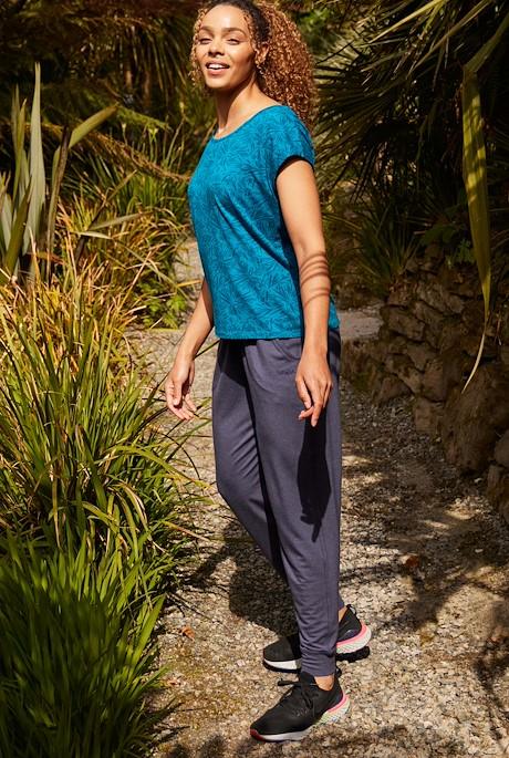 Myla Bamboo Cuffed Trousers Navy Marl