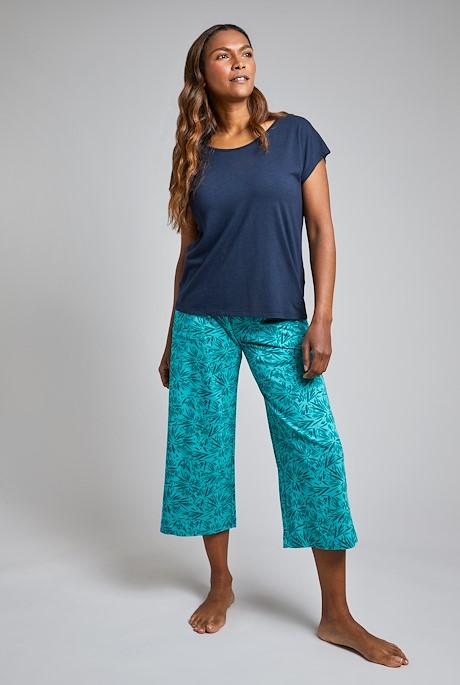 Tilda Bamboo Wide Leg Trousers Light Teal