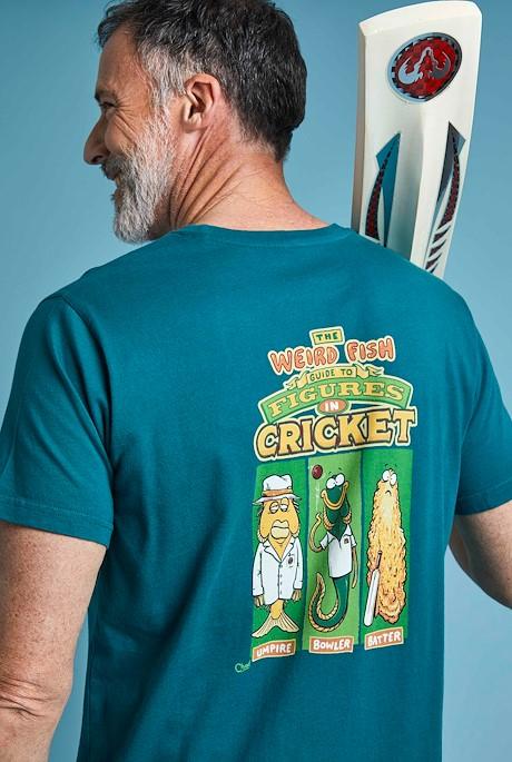 Weird Cricket Organic Artist Tee Petrol Blue