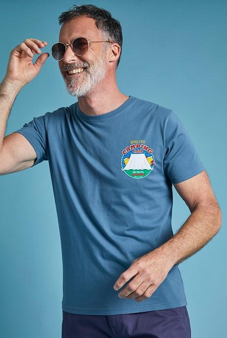 Weird Camping Organic Cotton Artist T-Shirt Blue Mirage