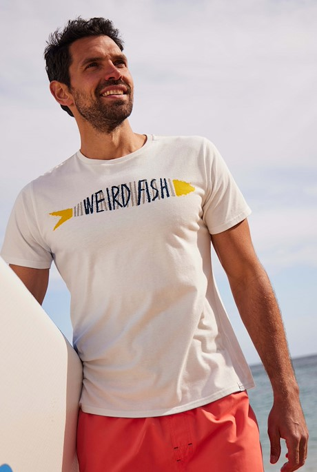 Barcod Branded T-Shirt Dusty White