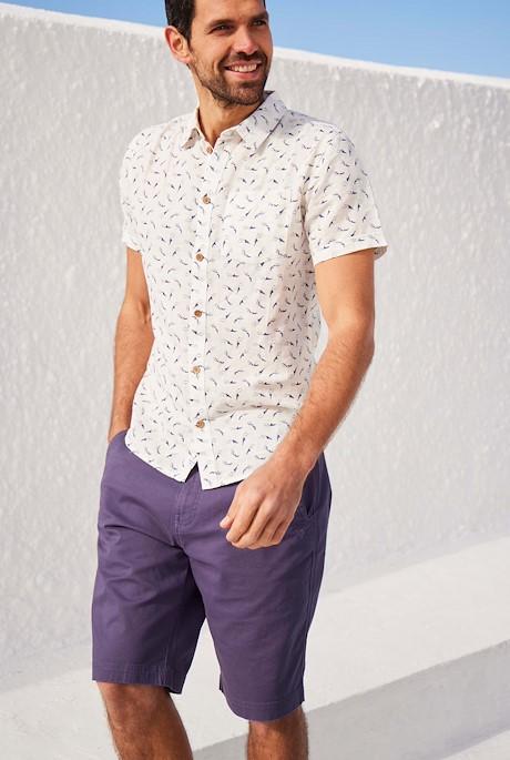 Rayburn Organic Cotton Flat Front Shorts Raisin