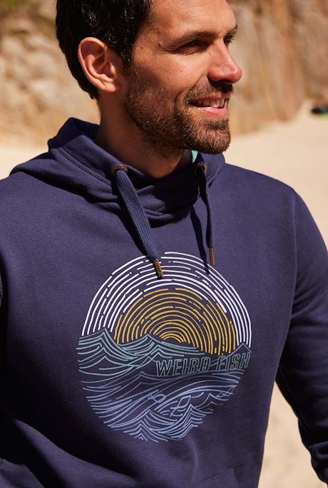 Rathmore Recycled Polyester Graphic Hoodie Navy
