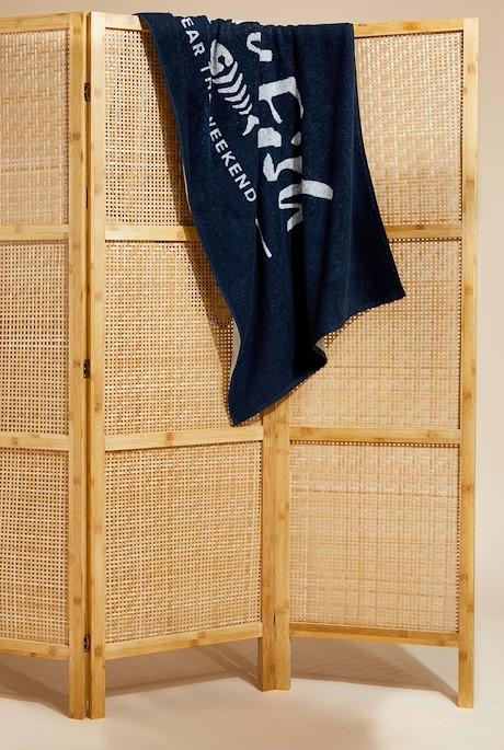 Blanford Beach Towel Navy