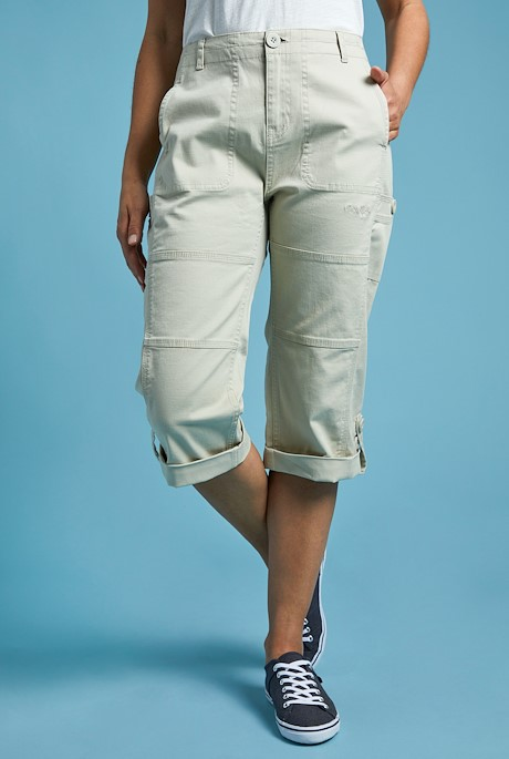 Gooden Organic Cotton 3/4 Trousers Oyster