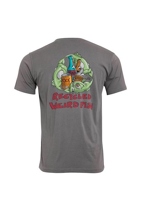 Weird Recycling Organic Cotton Artist T-Shirt Frost Grey
