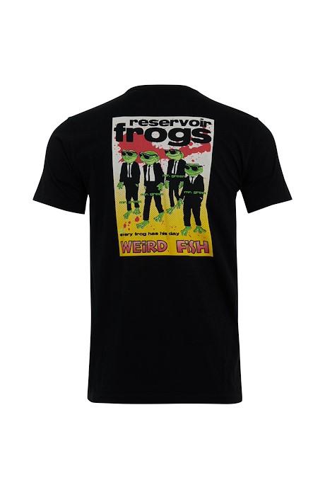 Reservoir Frogs Tall Organic Cotton Artist T-Shirt Black