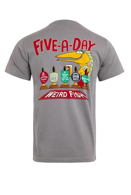 Five A Day Organic Artist T-Shirt Frost Grey