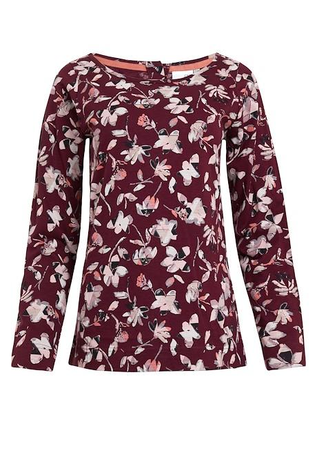 Tupelo Organic Cotton Long Sleeve T-Shirt Burgundy