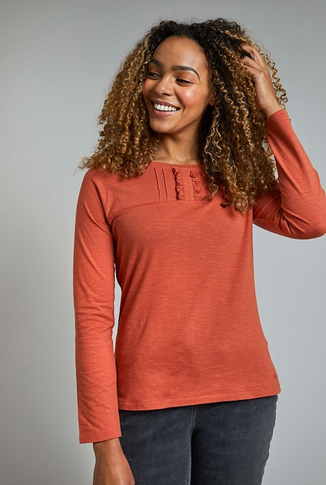 Carolina Organic Cotton Plain T-Shirt Rust