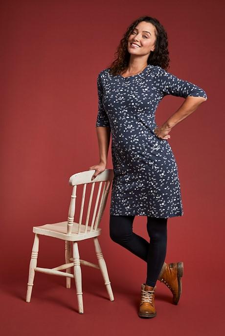 Starshine Organic Cotton Printed Jersey Dress Dark Navy