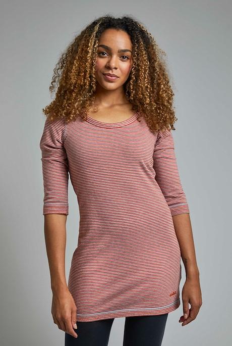 Kelsey Organic Cotton Stripe Tunic Rust