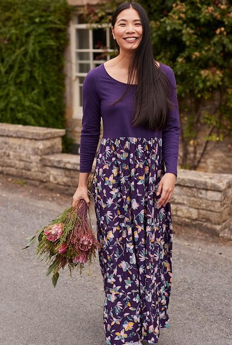 Lex EcoVero Maxi Dress Grape