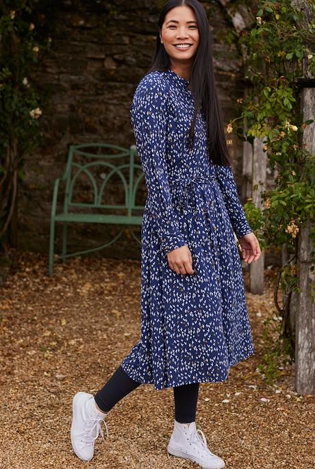 Lawson EcoVero Viscose Printed Shirt Dress Ensign Blue