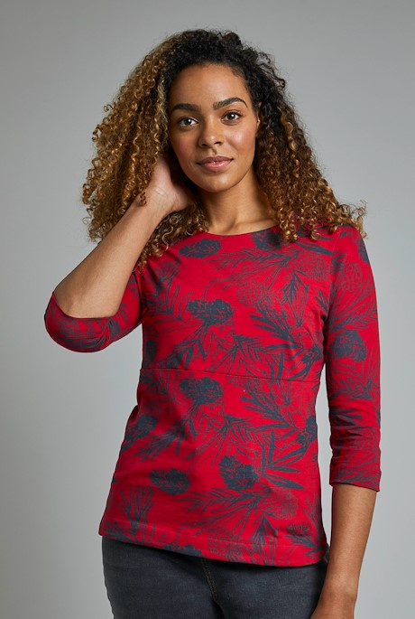 Pinto Organic Cotton Printed Top Crimson