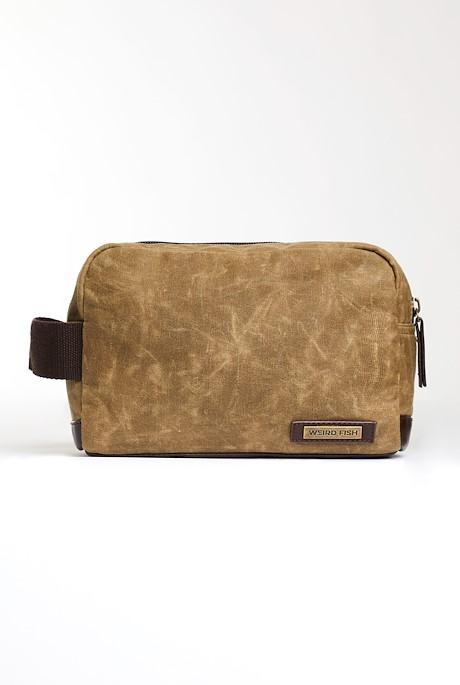 Rata Waxed Wash Bag Bark
