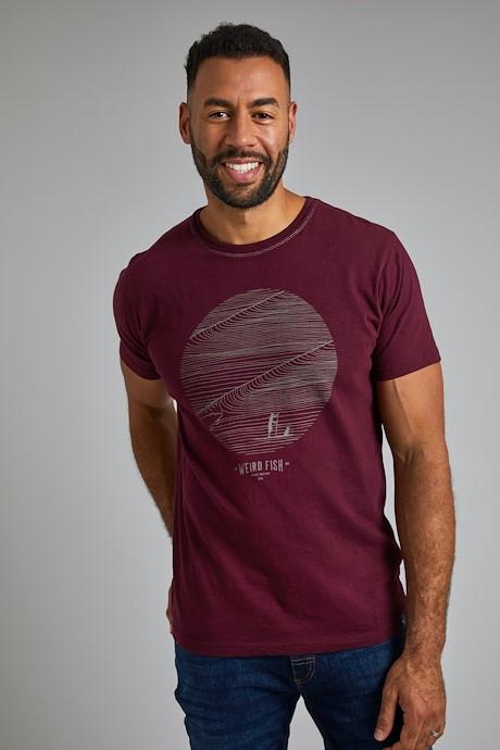 High Tide Organic Cotton Graphic High T-Shirt Tall Antique Cherry