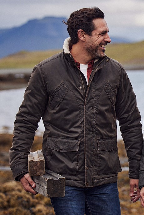 Seabrook Pigment Printed Wadded Jacket Bark