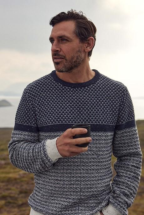 Ralph Nordic Knit Crew Neck Jumper Ecru