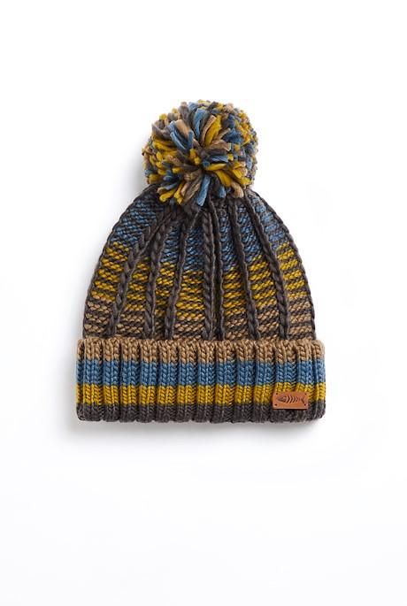 Mexia Eco Stripe Rib Hat Shale