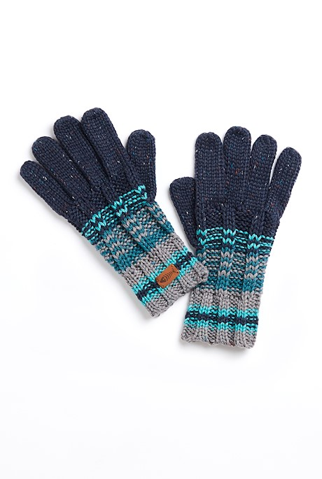Munday Eco Variagated Striped Gloves Frost Grey