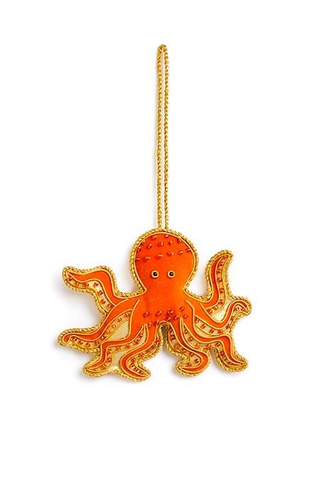 Octopus Decoration  Tangerine