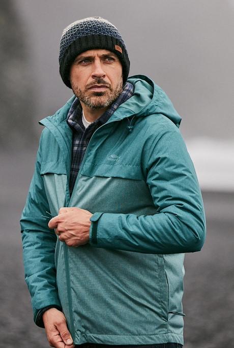 Crandall  Melange Waterproof Jacket Petrol Blue
