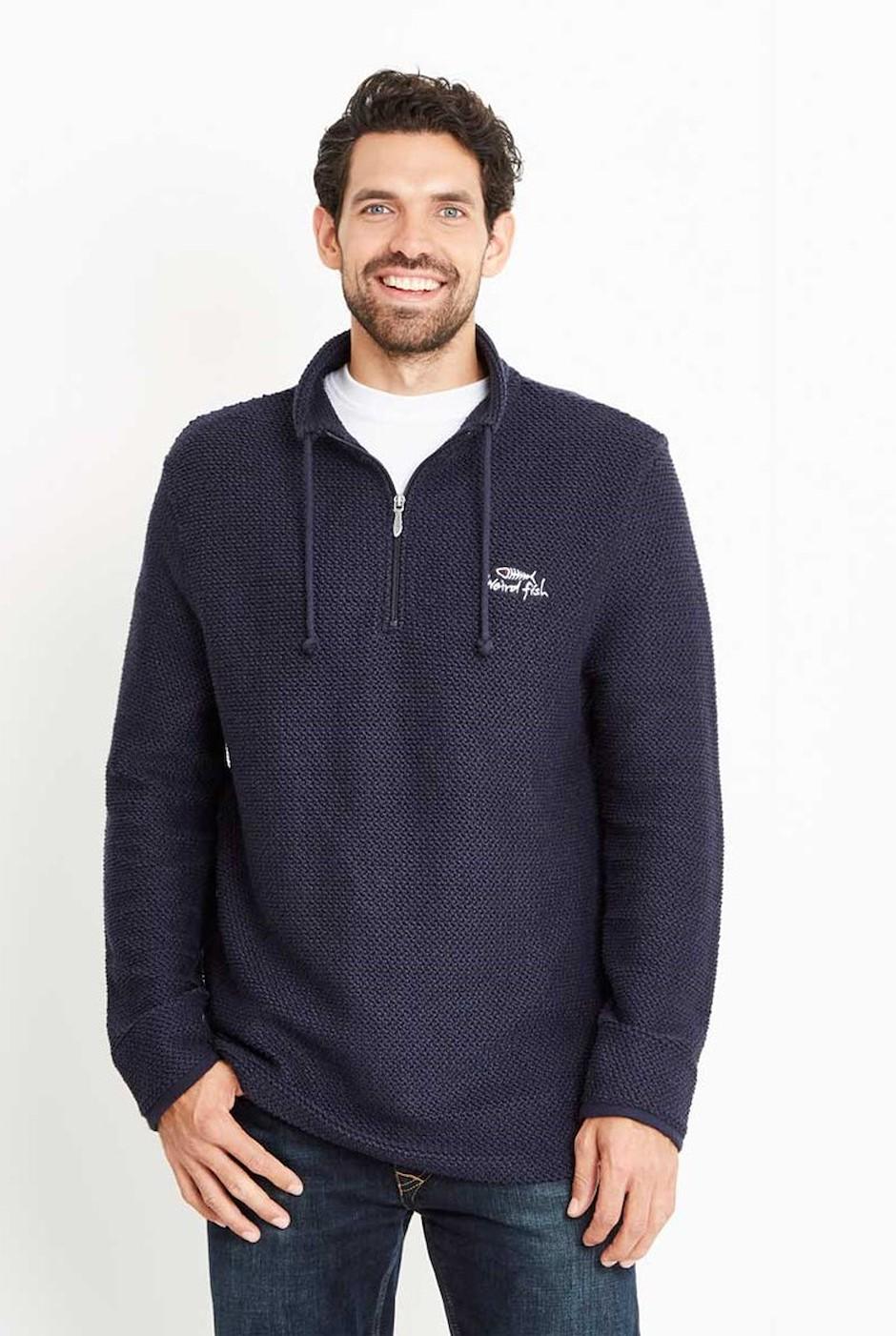 Skipper Classic ¼ Zip Macaroni Sweatshirt Carbon