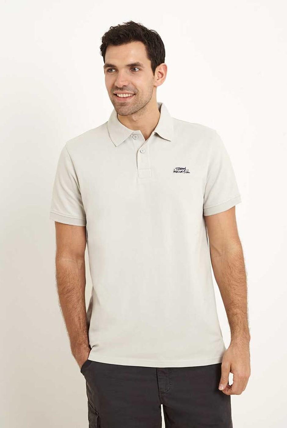 Saltash Rib Collar Pique Polo Shirt Soft Grey