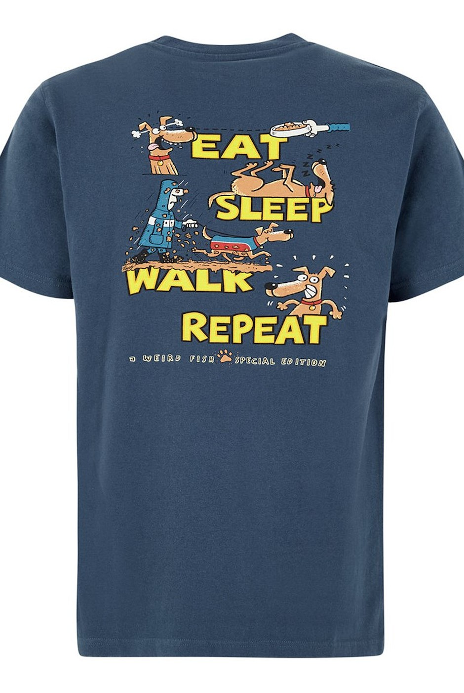 Eat Sleep Walk Artist Tee Ensign Blue