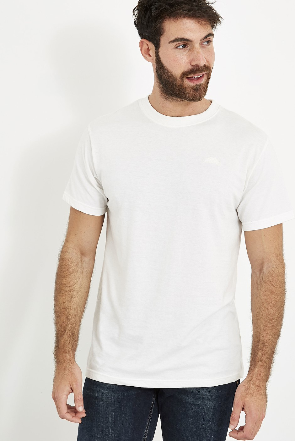 Fished T-Shirt Dusty White Marl