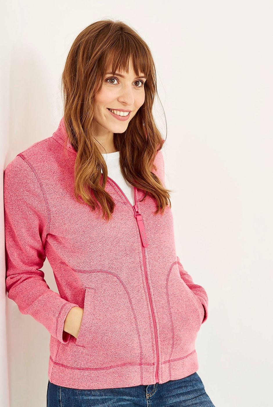 Galata Full Zip Soft Knit Fleece Hot Pink