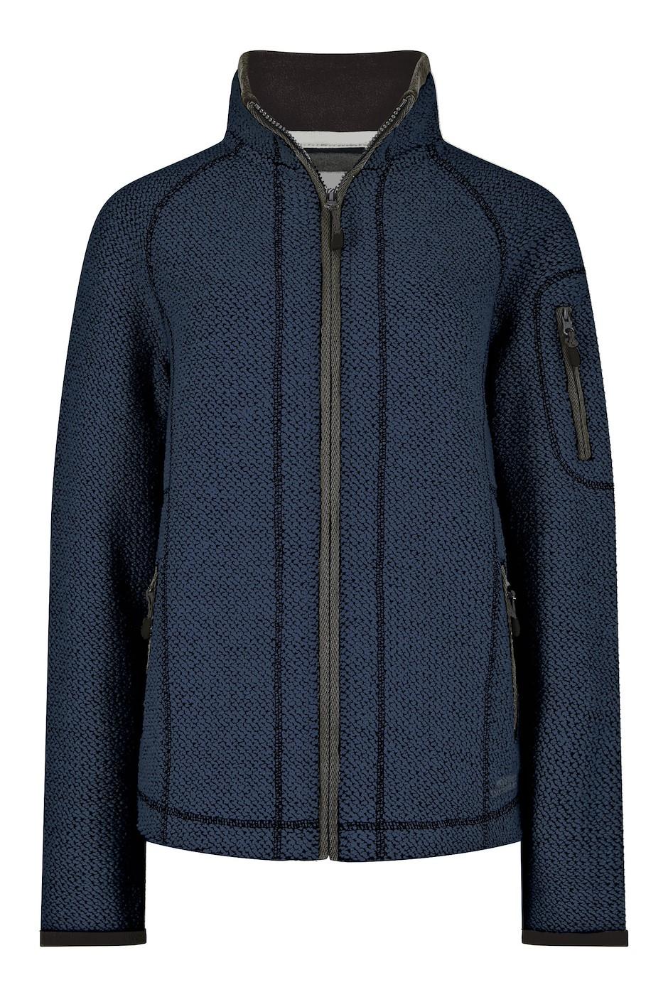 Hilltop Full Zip Macaroni Sweatshirt Dark Navy
