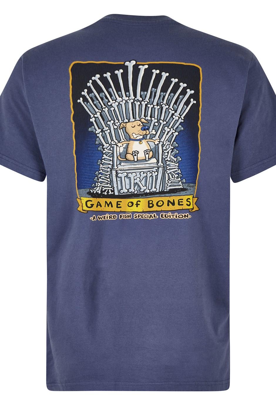 Game Of Bones Artist T-Shirt Blue Indigo