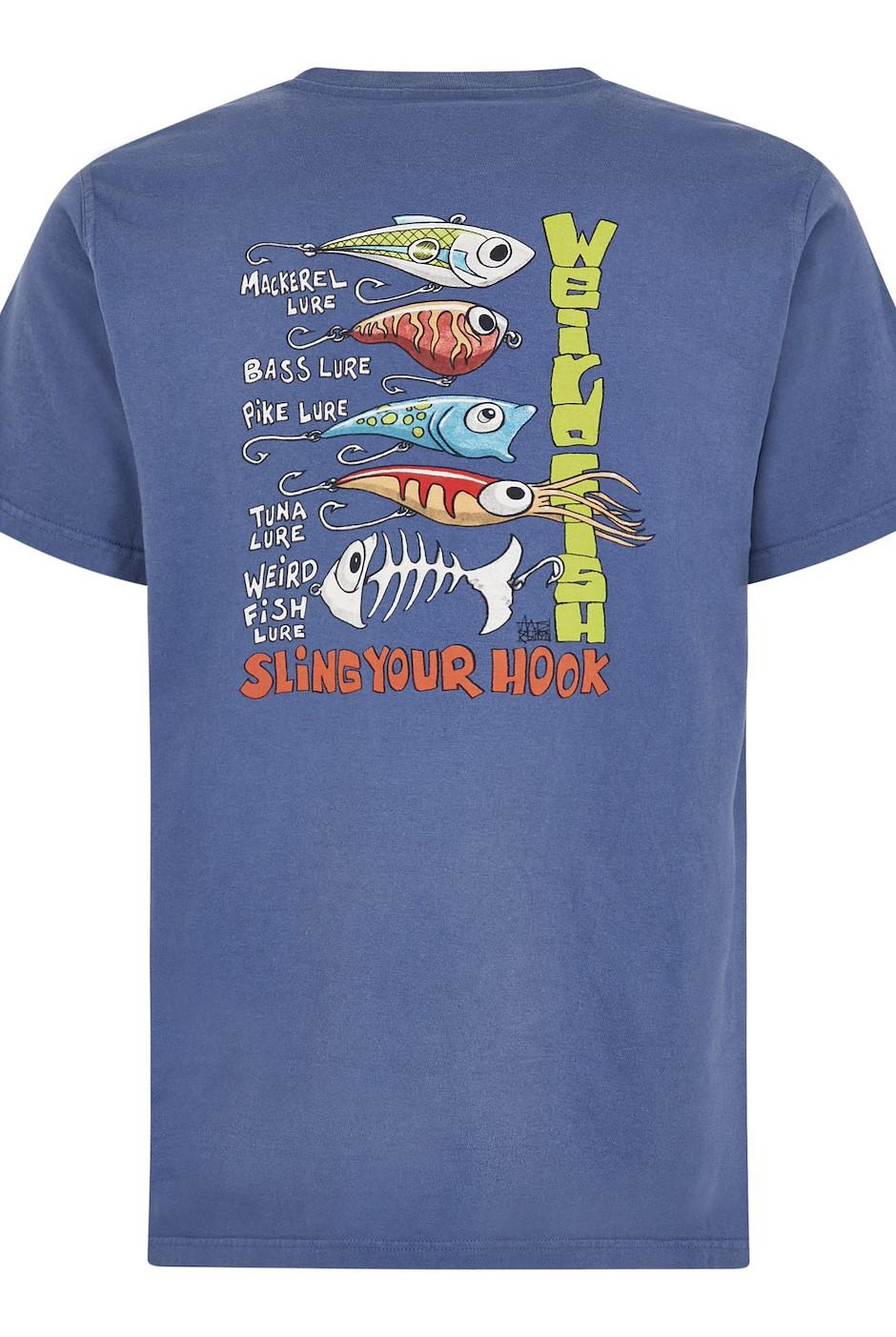Sling Your Hook Artist T-Shirt Blue Indigo