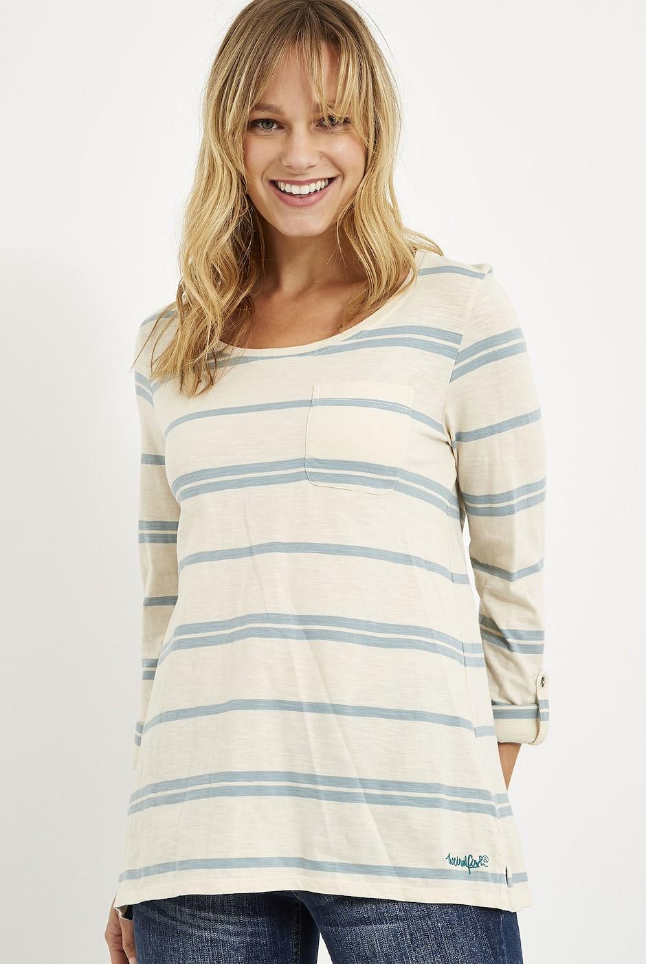 Chrissy Striped Cotton T-Shirt Arona