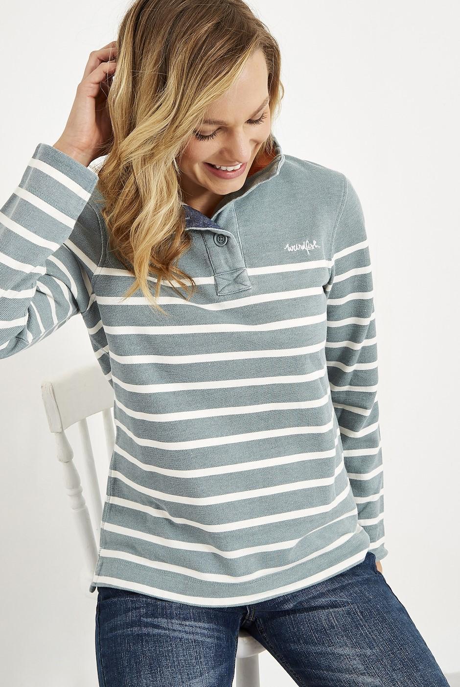 Hansley 1/4 Neck Striped Sweatshirt Arona