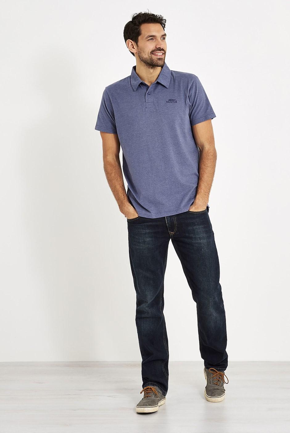 Quay Branded Polo Shirt Blue Indigo Marl