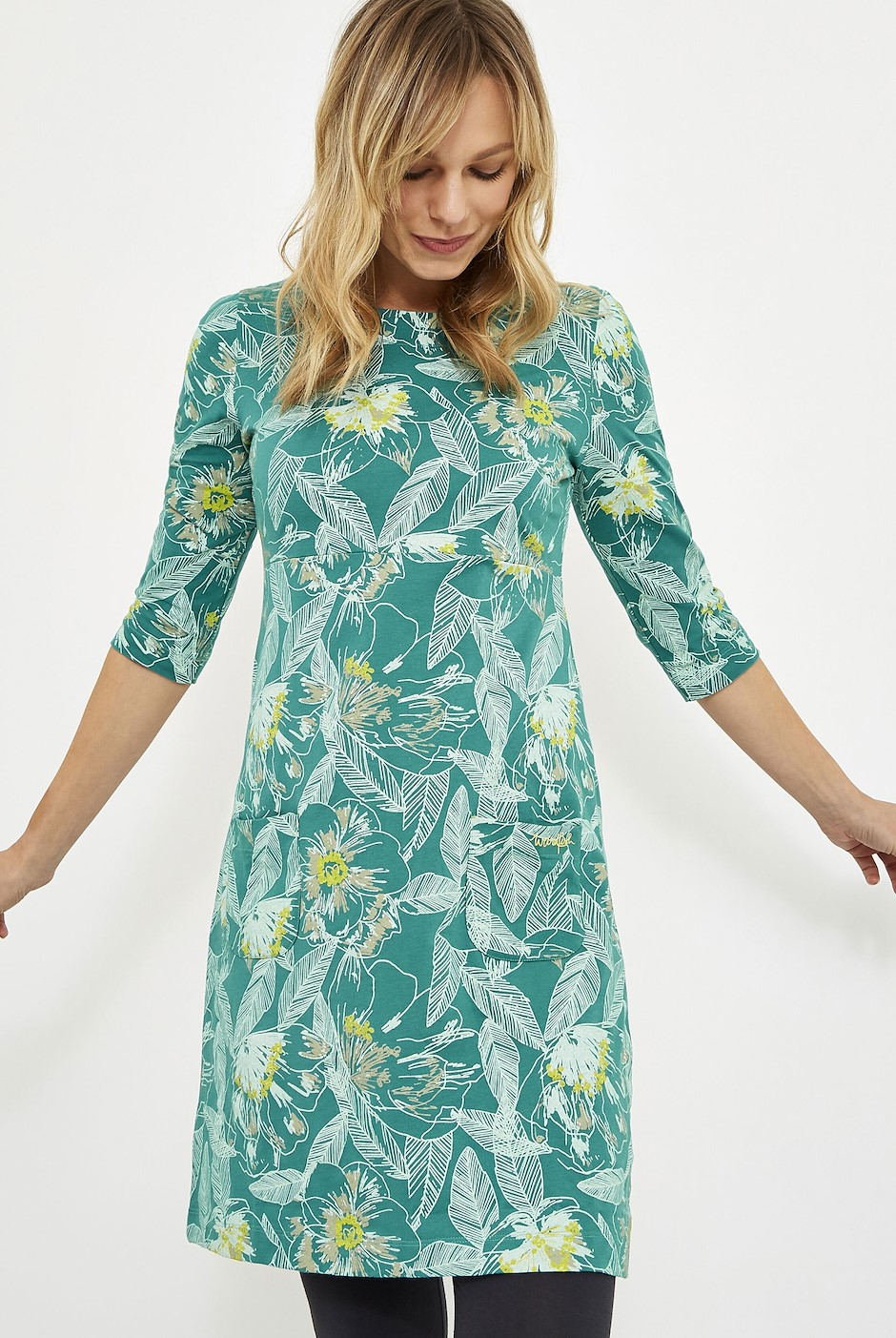 Starshine Printed Jersey Dress Viridis