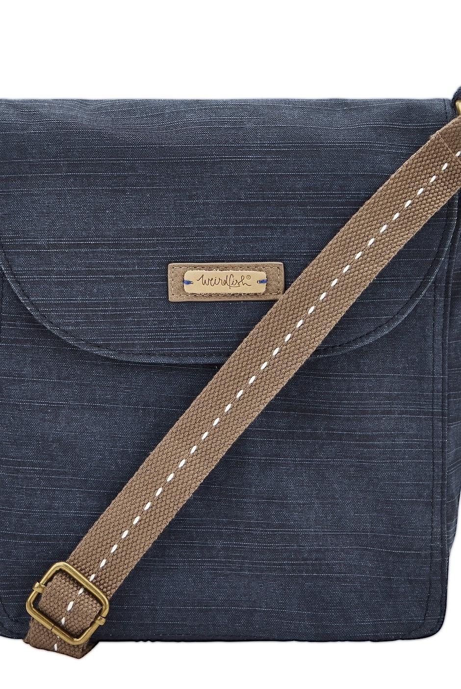 Loula Cotton Cross Body Bag Dark Navy