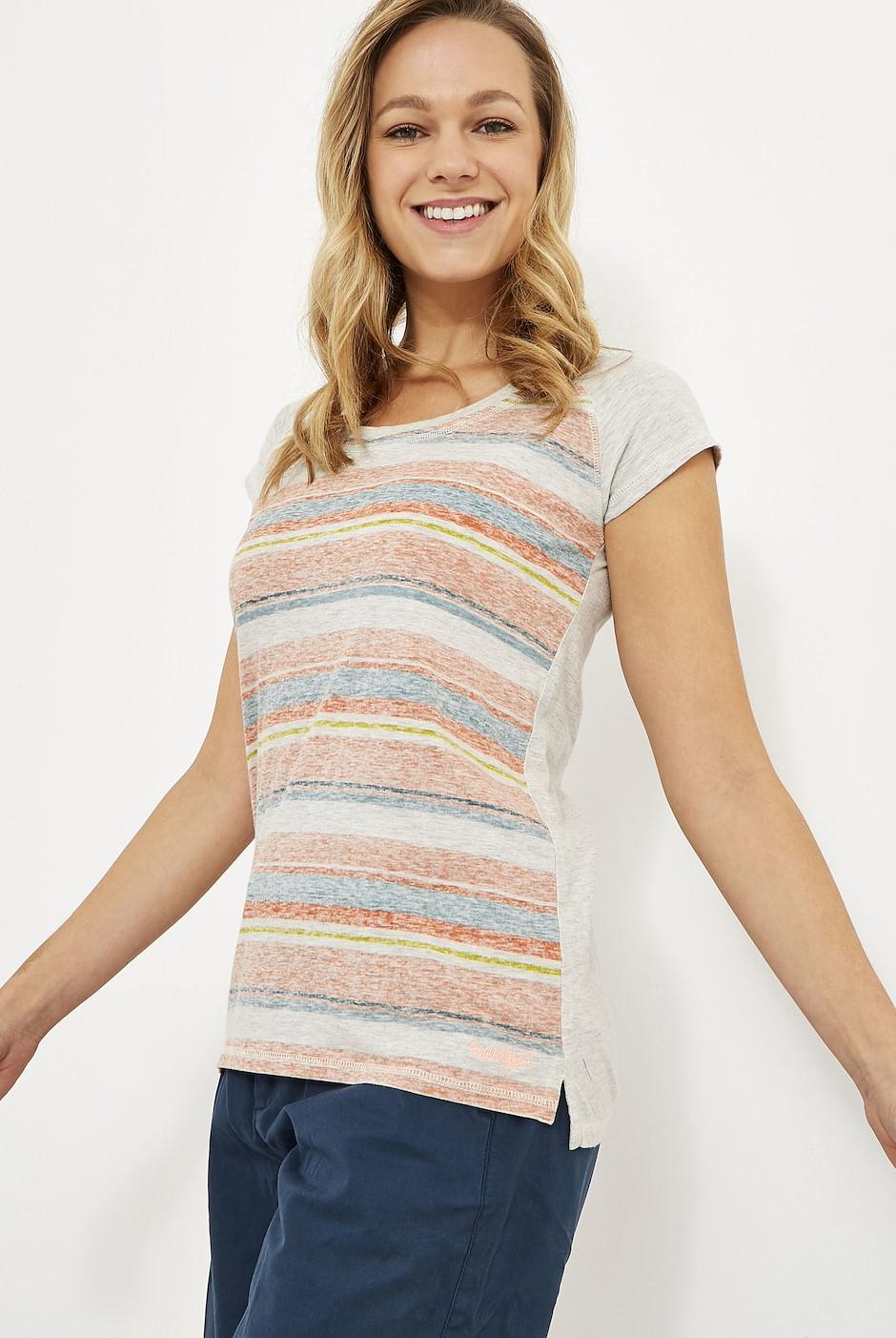 Rosanna Printed Striped T-Shirt Cantaloupe