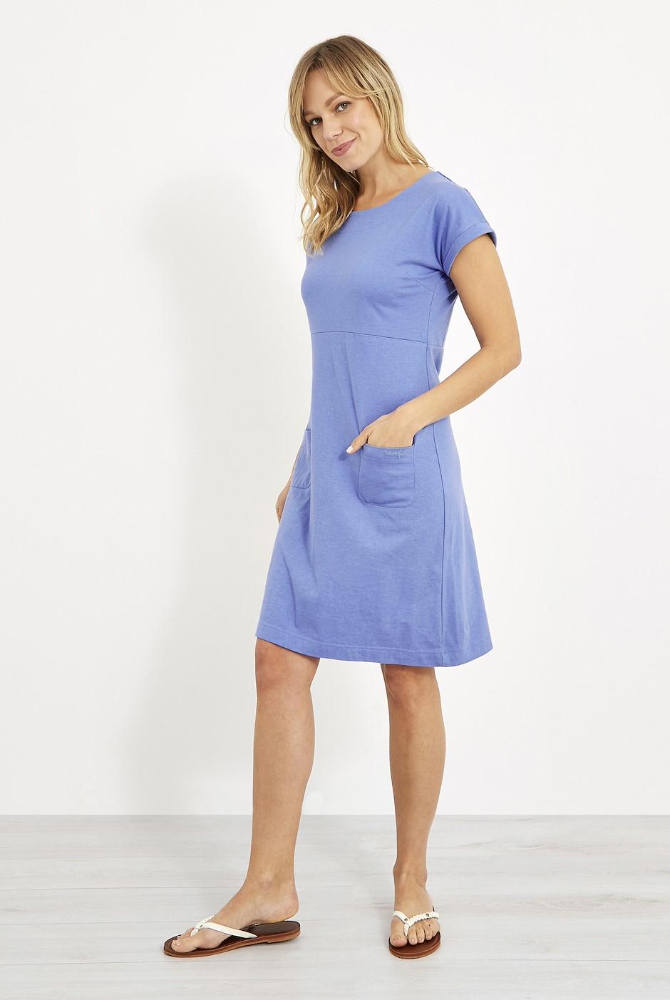 Talia Plain Jersey Dress Cornflower Marl