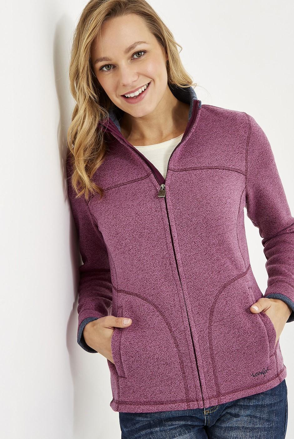 Sienna Full Zip Soft Knit Jacket Purple Potion